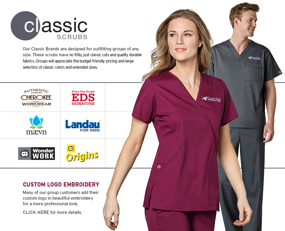 Classic Scrubs - No frills, just classic cuts, quality durable fabrics, and  great