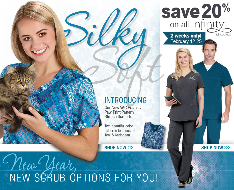 20% OFF Infinity by Cherokee Scrubs at VeterinaryApparel.com