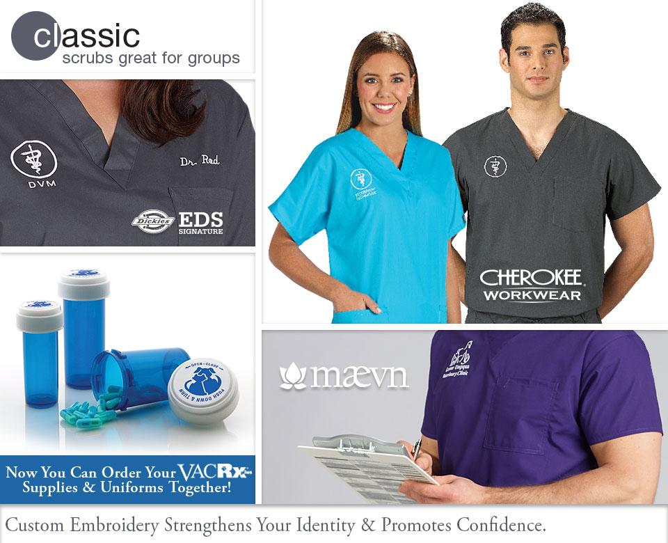Veterinary Apparel Company Classic Scrubs that are Great for Groups