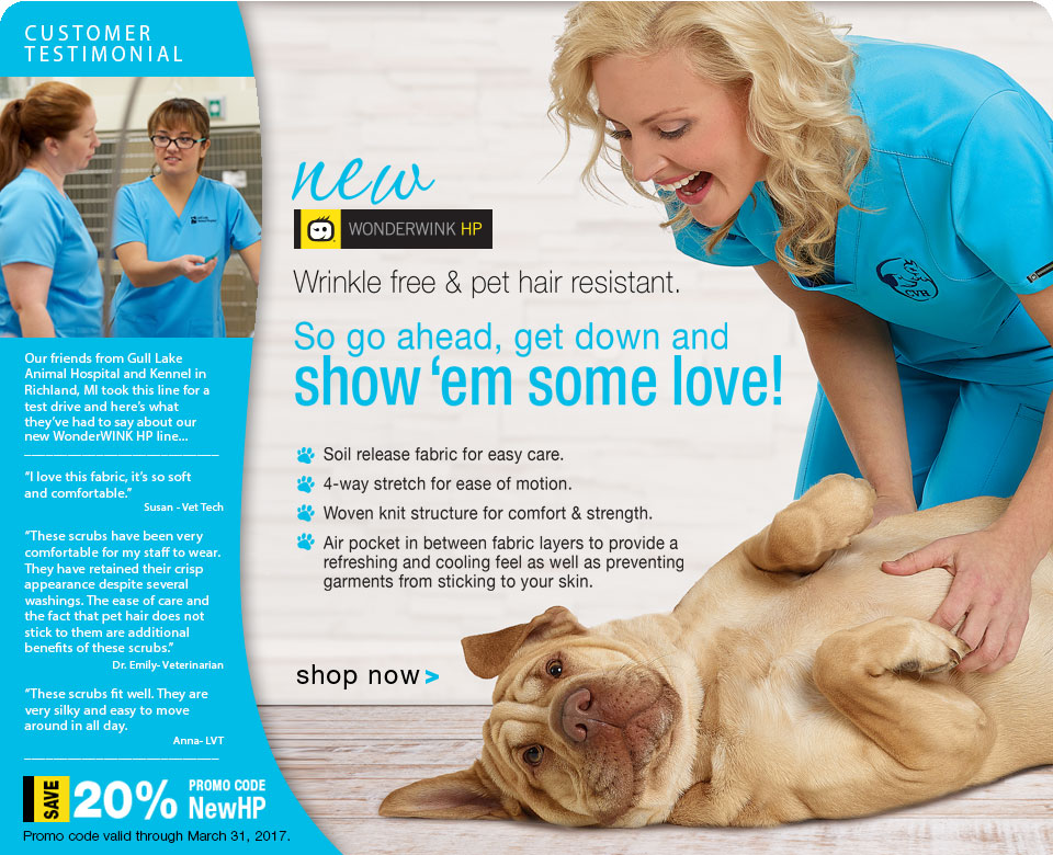 Veterinary Apparel Company Save 20% on Wonderwink HP Scrubs