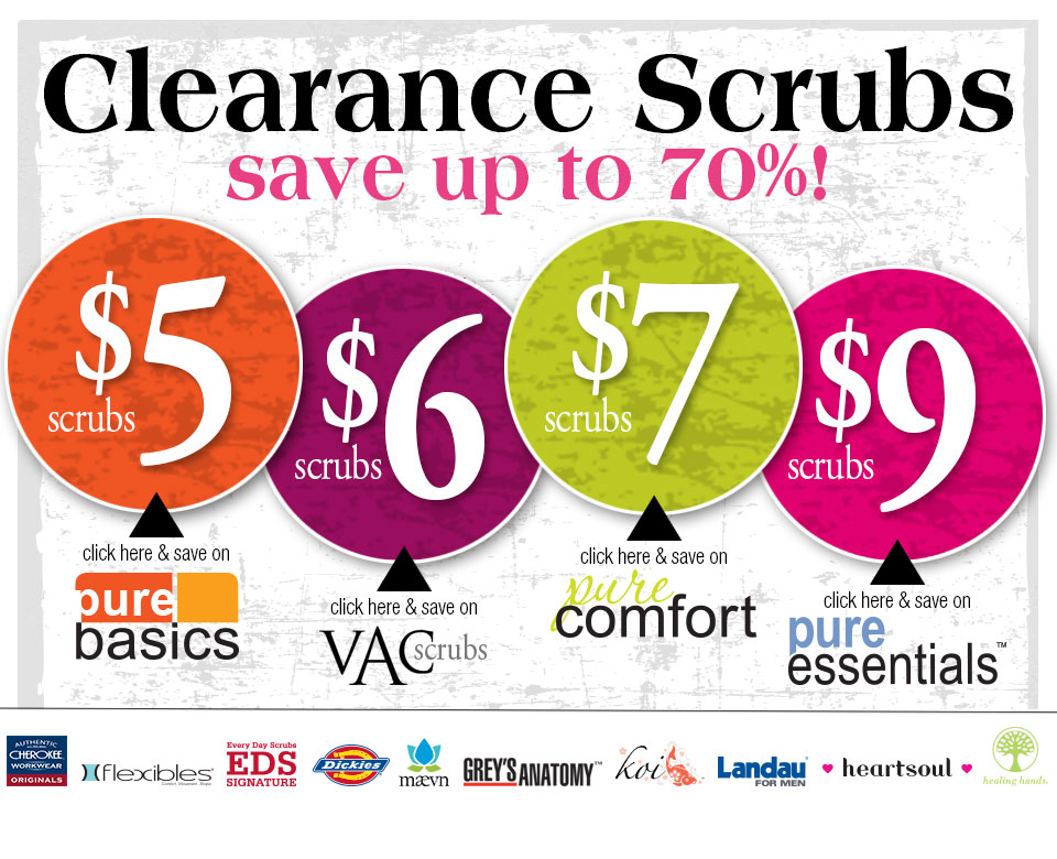 Clearance Scrubs & More