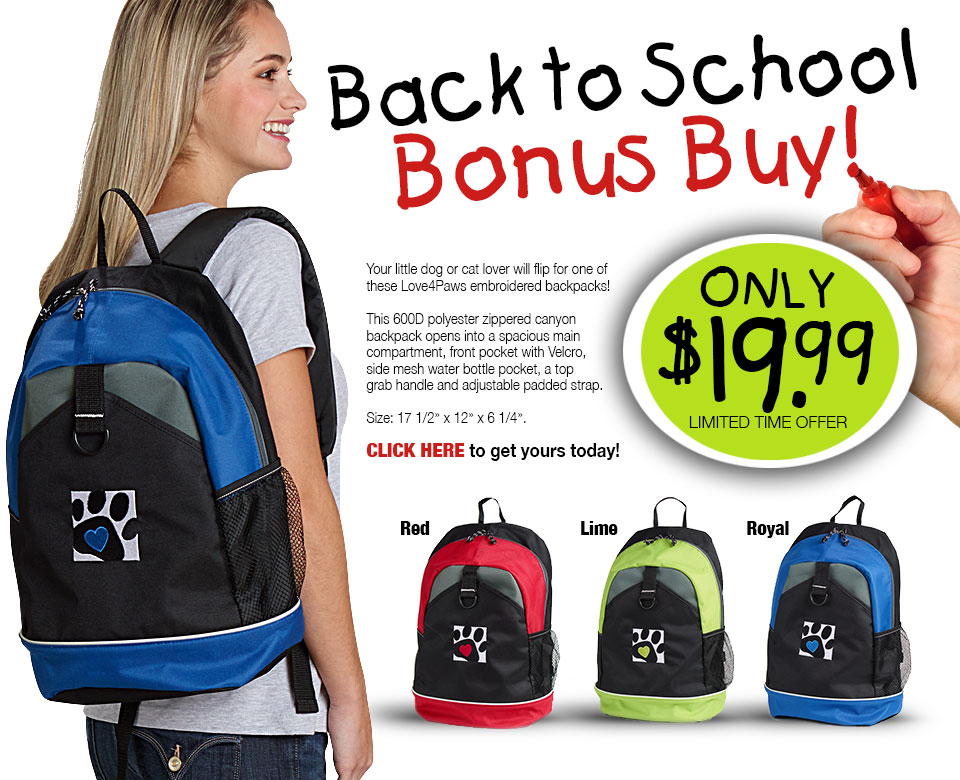 Love4Paws Backpack Special