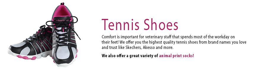 Tennis Shoes at Veterinary Apparel Company