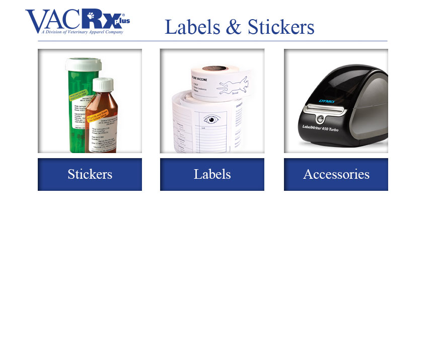 VACRx Supplies Labels and Stickers
