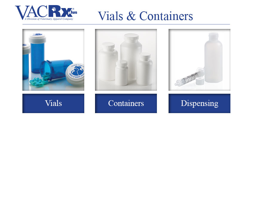 VACRx Supplies Vials and Containers